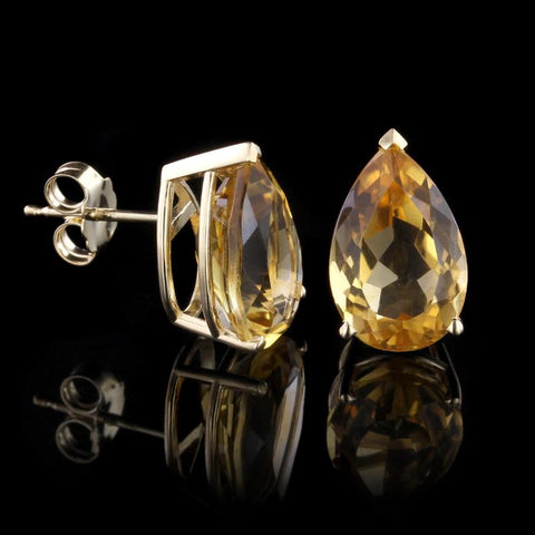John Hardy Sterling Silver and 18K Yellow Gold White Topaz Batu Sari Drop Earrings