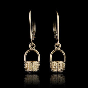 14K Yellow Gold Nantucket Basket Earrings