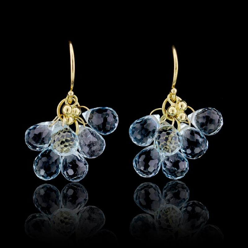 Temple St. Clair 18K Yellow Gold Aquamarine Earrings
