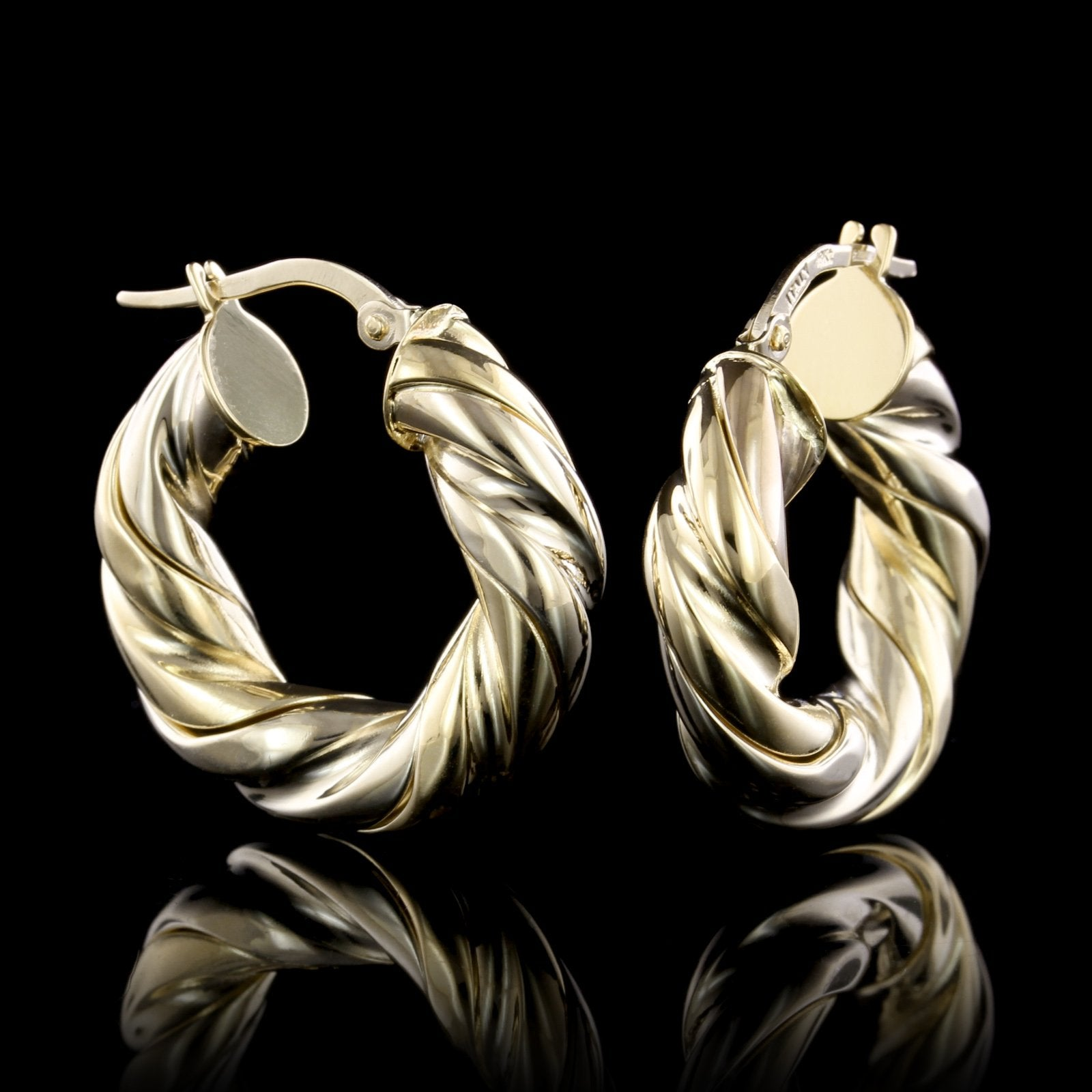 Roberto Coin 18K Yellow Gold Twisted Hoop Earrings