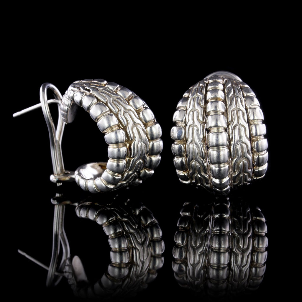 John Hardy Sterling Silver Buddha Belly Earrings