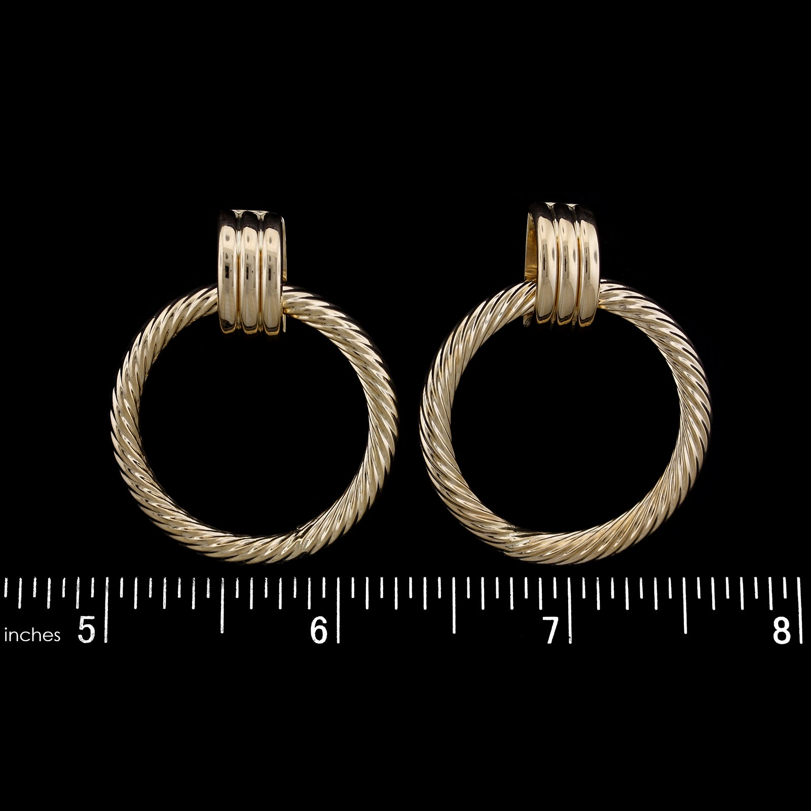 14K Yellow Gold Estate Earrings