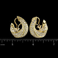 18K Yellow Gold Estate Diamond Earrings