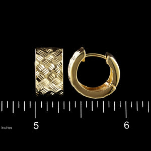 14K Yellow Gold Estate Hoops