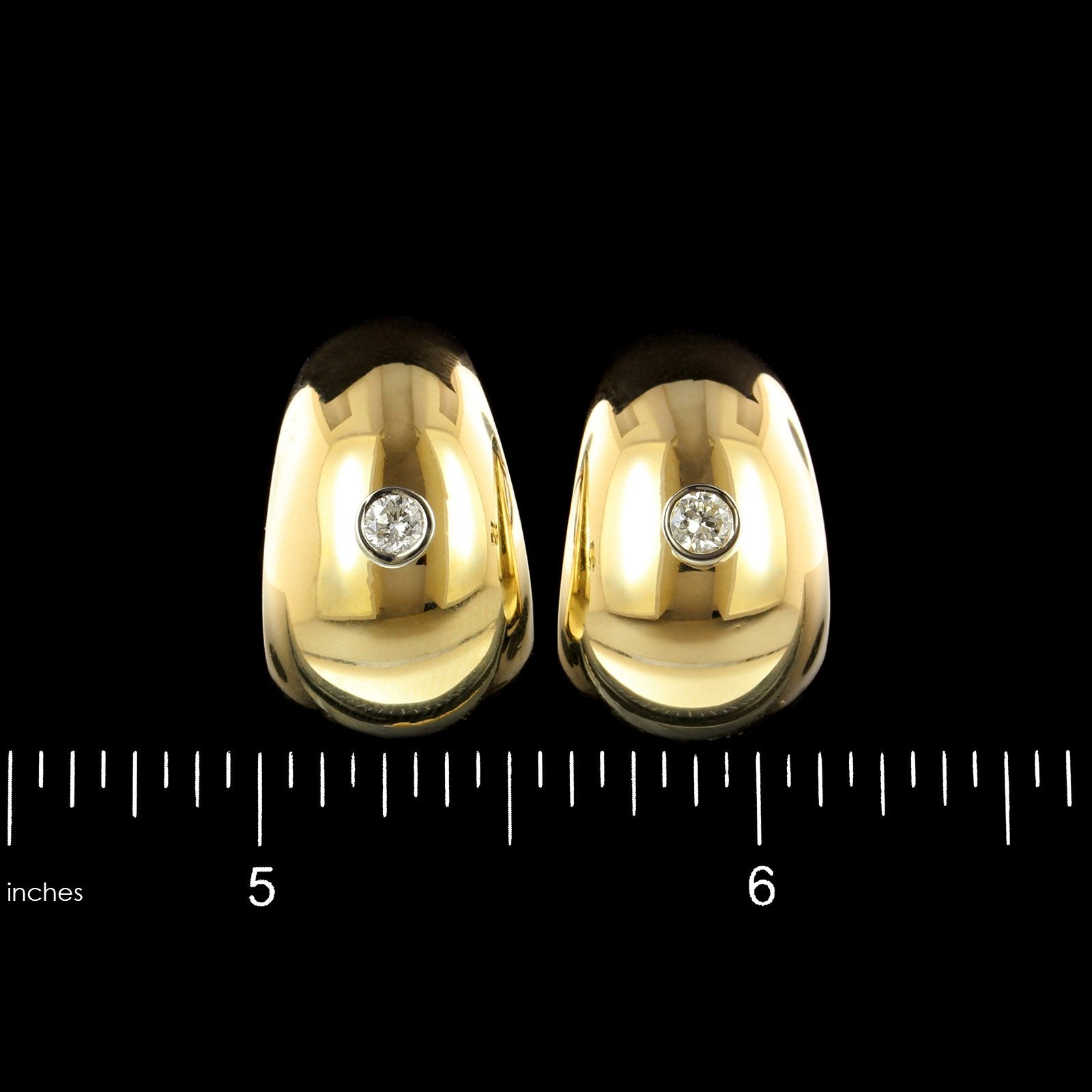 14K Yellow Gold Estate Diamond Earrings