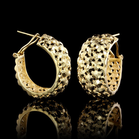 14K Yellow Gold Estate Hoop Earrings
