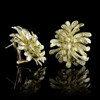 Hammerman Bros. 18K Yellow Gold Estate Freeform Earrings