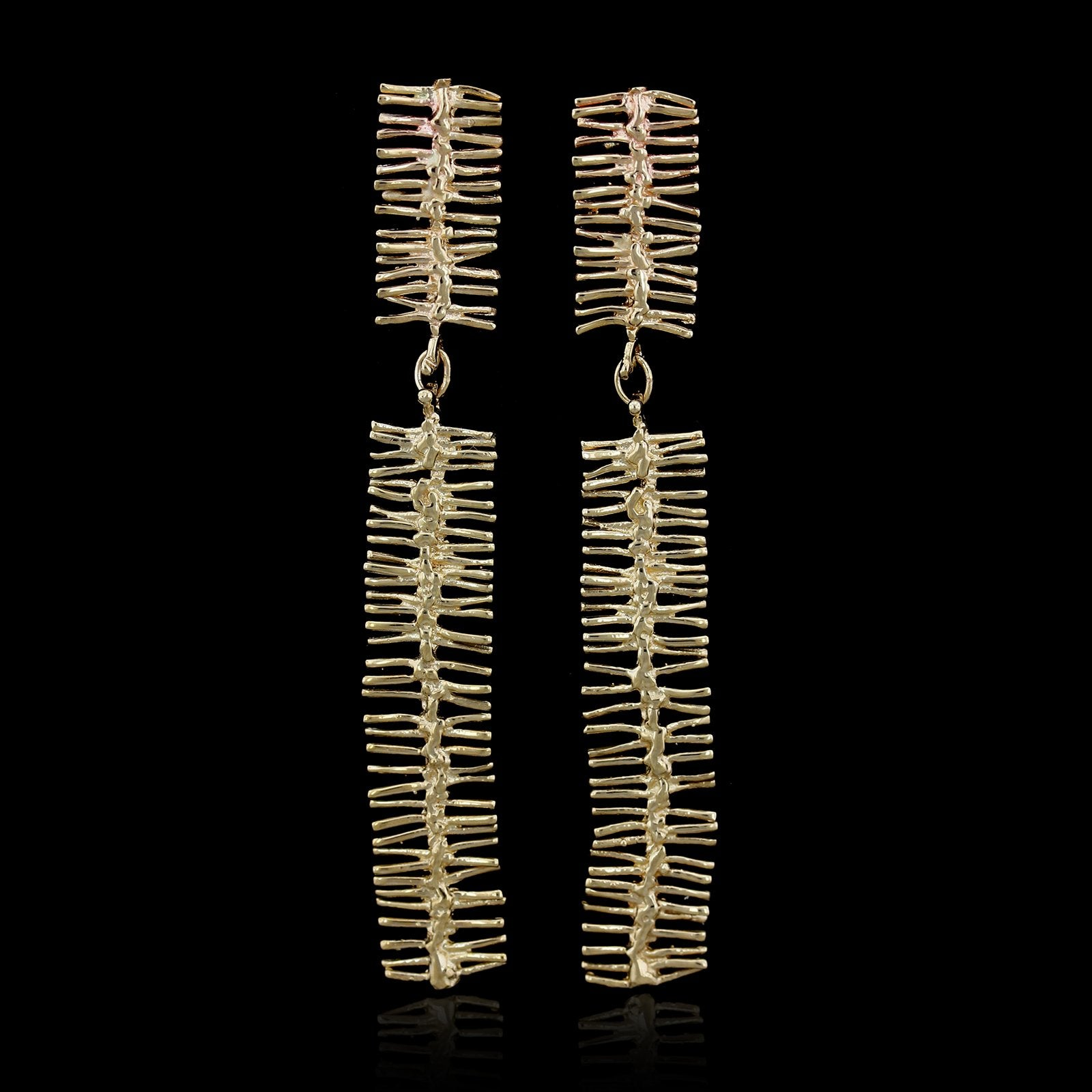 14K Yellow Gold Estate Drop Earrings