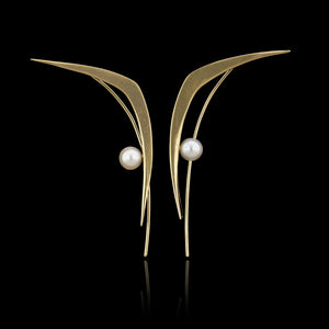 14K Yellow Gold  Estate Cultured Pearl Earrings