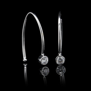 14K White Gold Estate Diamond Earrings