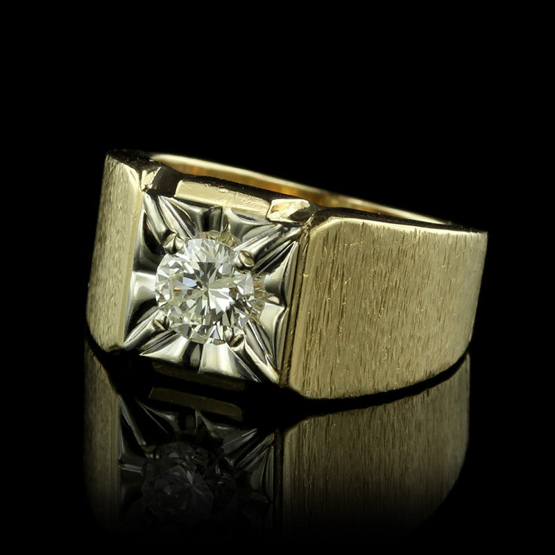 14K Two-Tone Gold Diamond Ring