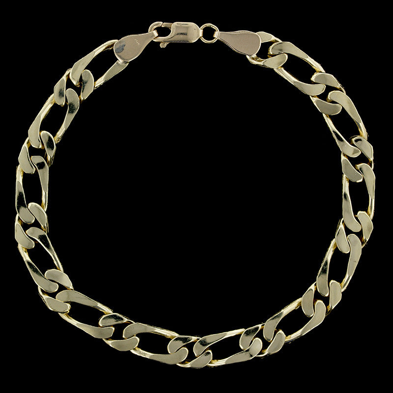14K Yellow Gold Figaro Bracelet