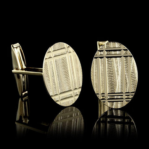 14K Yellow Gold Cufflinks