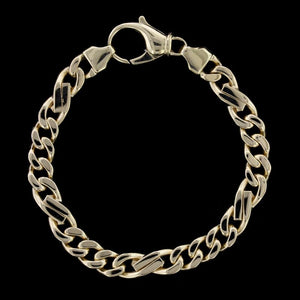 14K Yellow Gold Fancy Curb Link Bracelet
