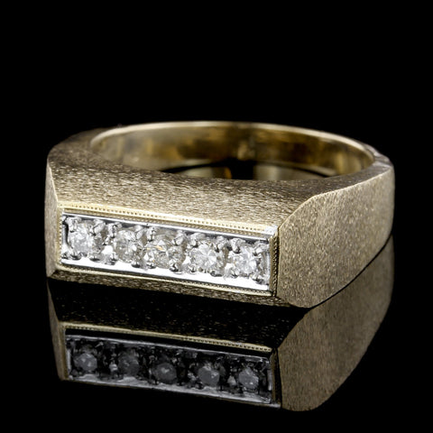 14K White Gold Prong Set Diamond Ring