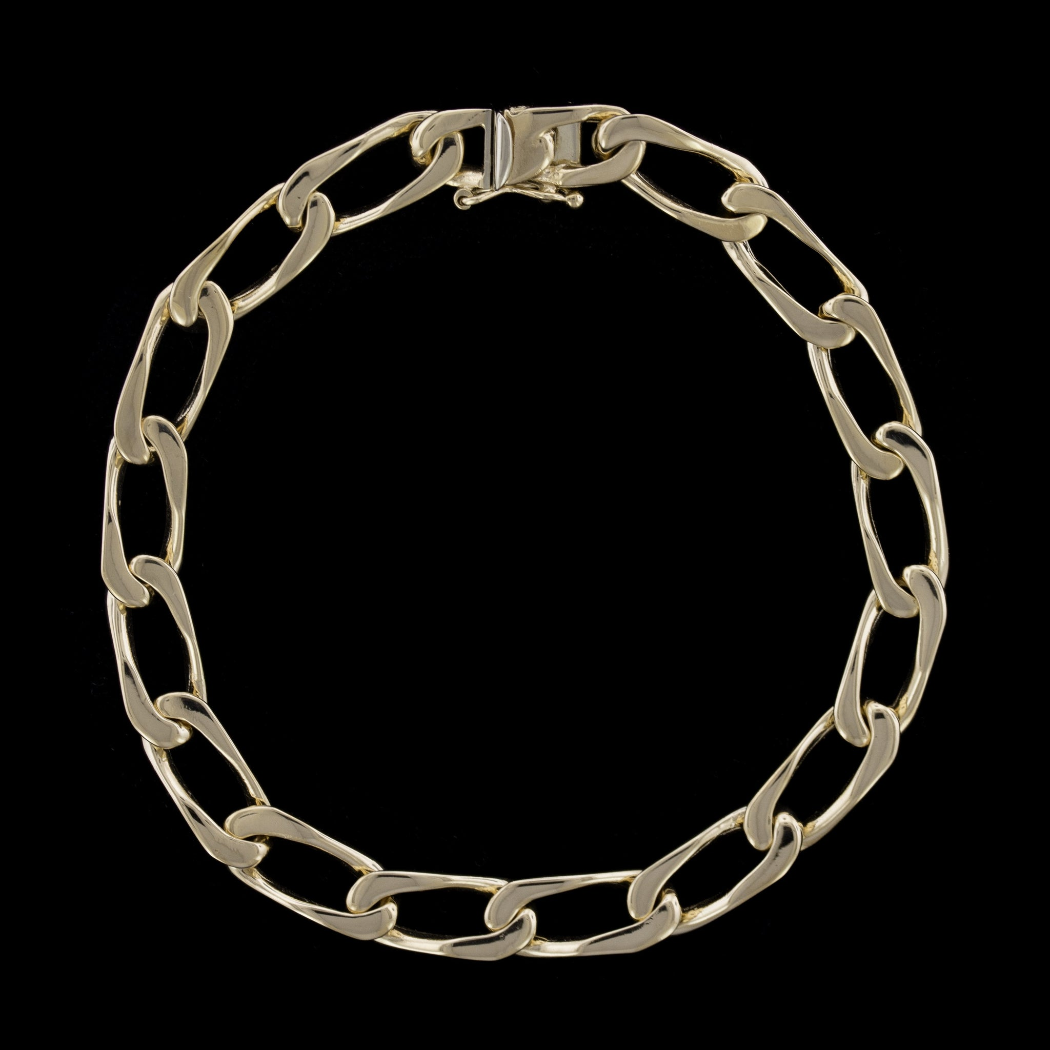 14K Yellow Gold Estate Curb Link Bracelet