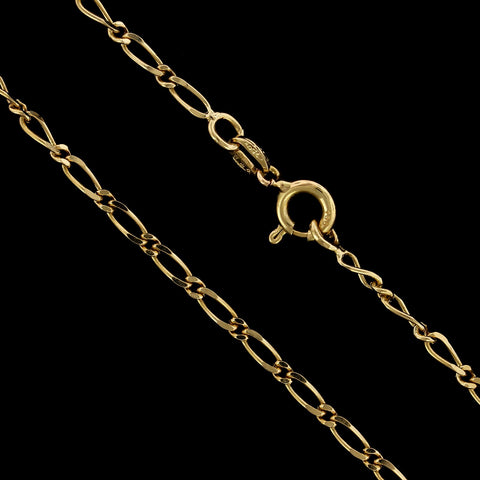 18K Yellow Gold Estate Fancy Link Chain