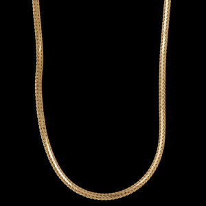 14K Yellow Gold Estate Flat Link Chain