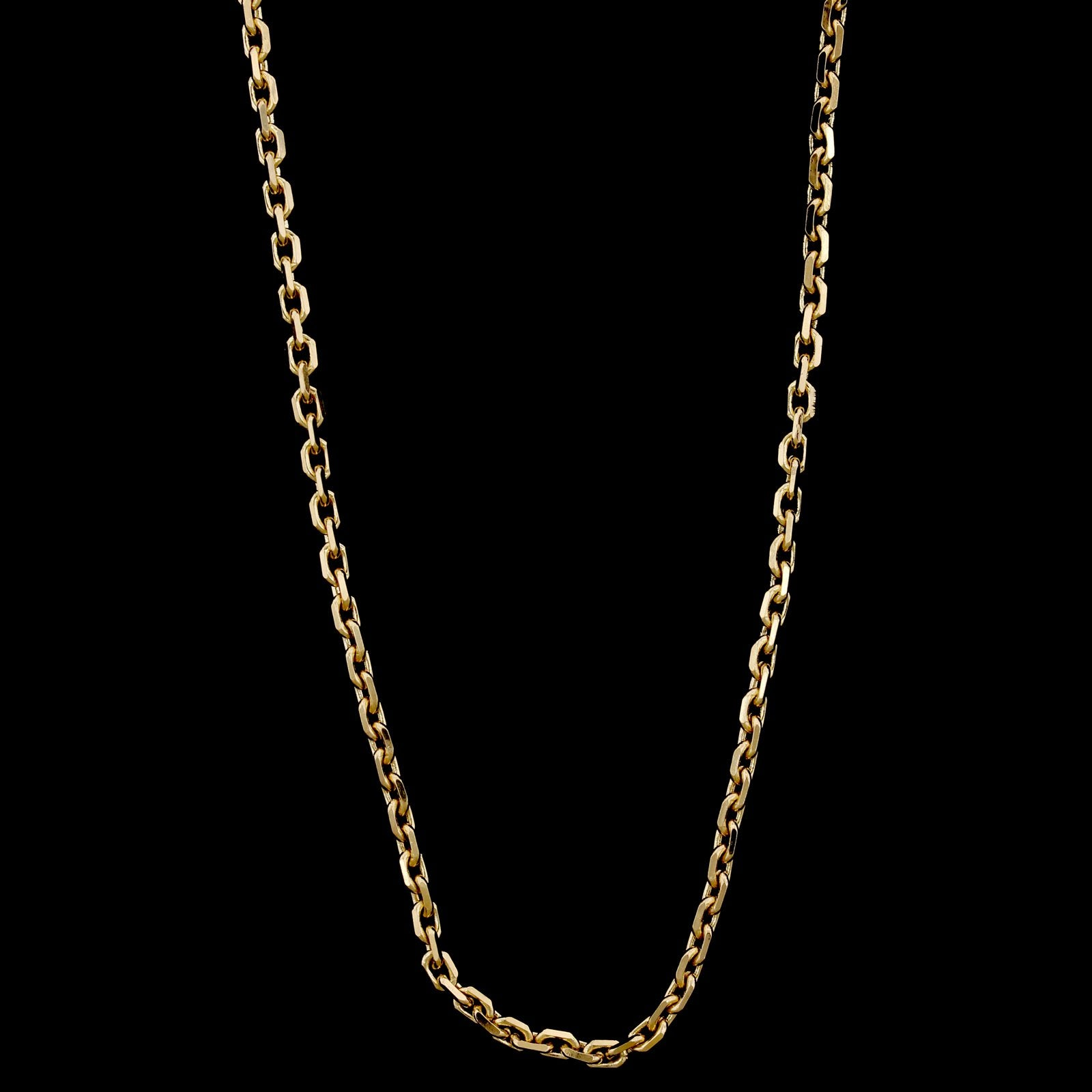 18K Yellow Gold Estate Anchor Chain