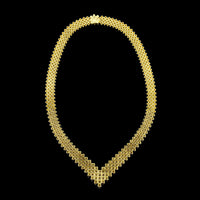 18K Yellow Gold Diamond Chevron Collar