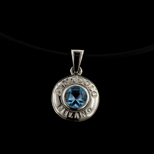 Di Modolo 18K White Gold and Blue Topaz Pendant