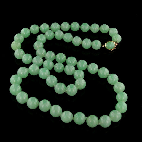 Gump's Jadeite Bead Necklace