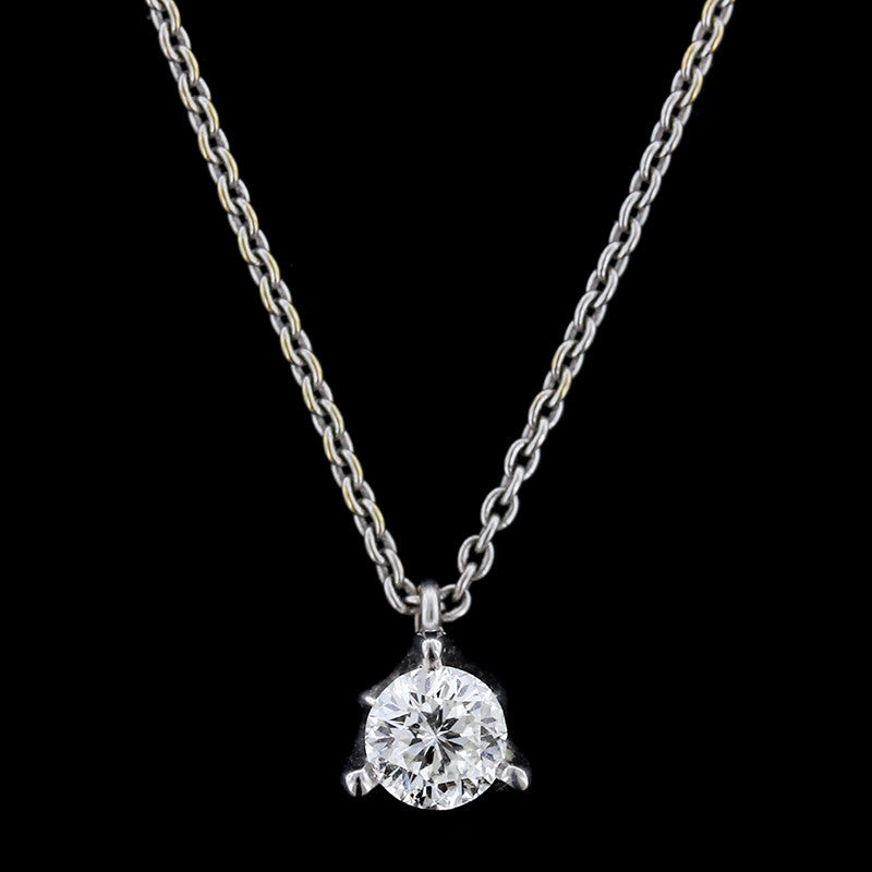 Roberto Coin 18K White Gold Diamond Cento Pendant