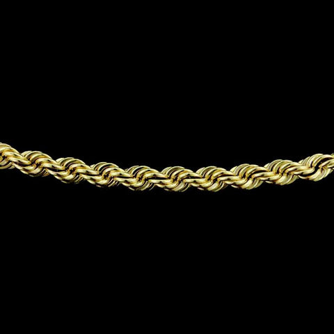 "14K Yellow Gold 30"" Rope Link Chain"