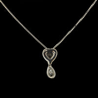 Damaini 18K White Gold Diamond Drop Necklace