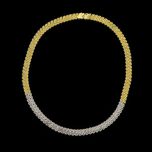 18K Two-Tone Gold Diamond Necklace