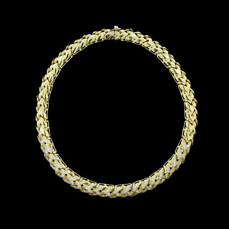 M. Gates 18K Yellow Gold Diamond Necklace