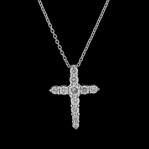 Roberto Coin 18K White Gold Diamond Cross