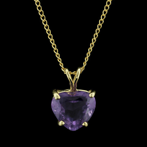 14K Yellow Gold Amethyst Pendant