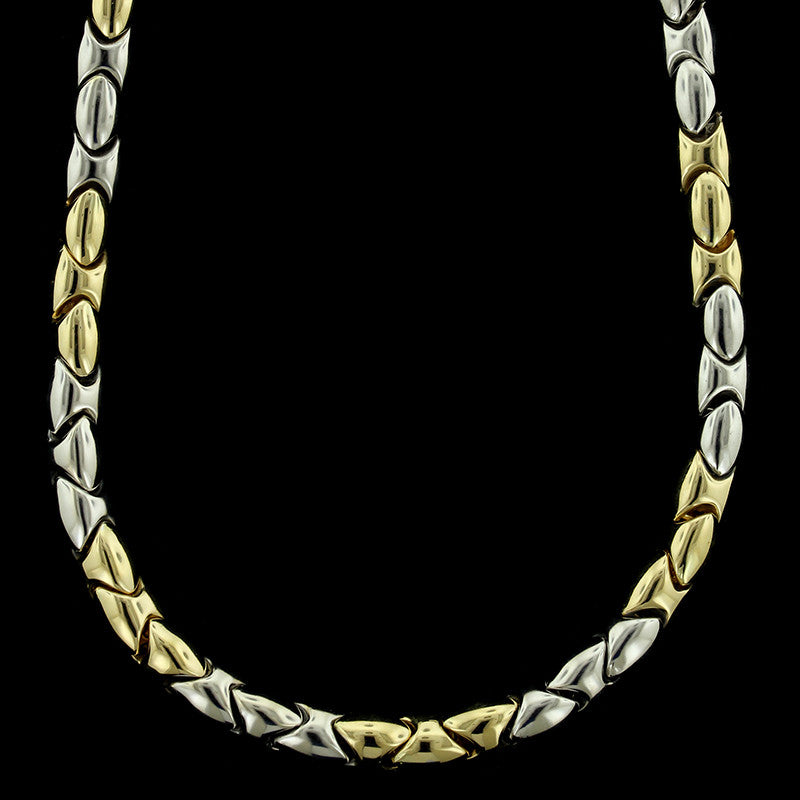 14K Two-tone Gold Necklace