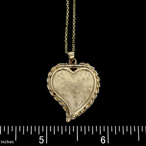 14K Yellow Gold Heart Locket