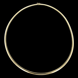 14K Yellow Gold Omega Necklace