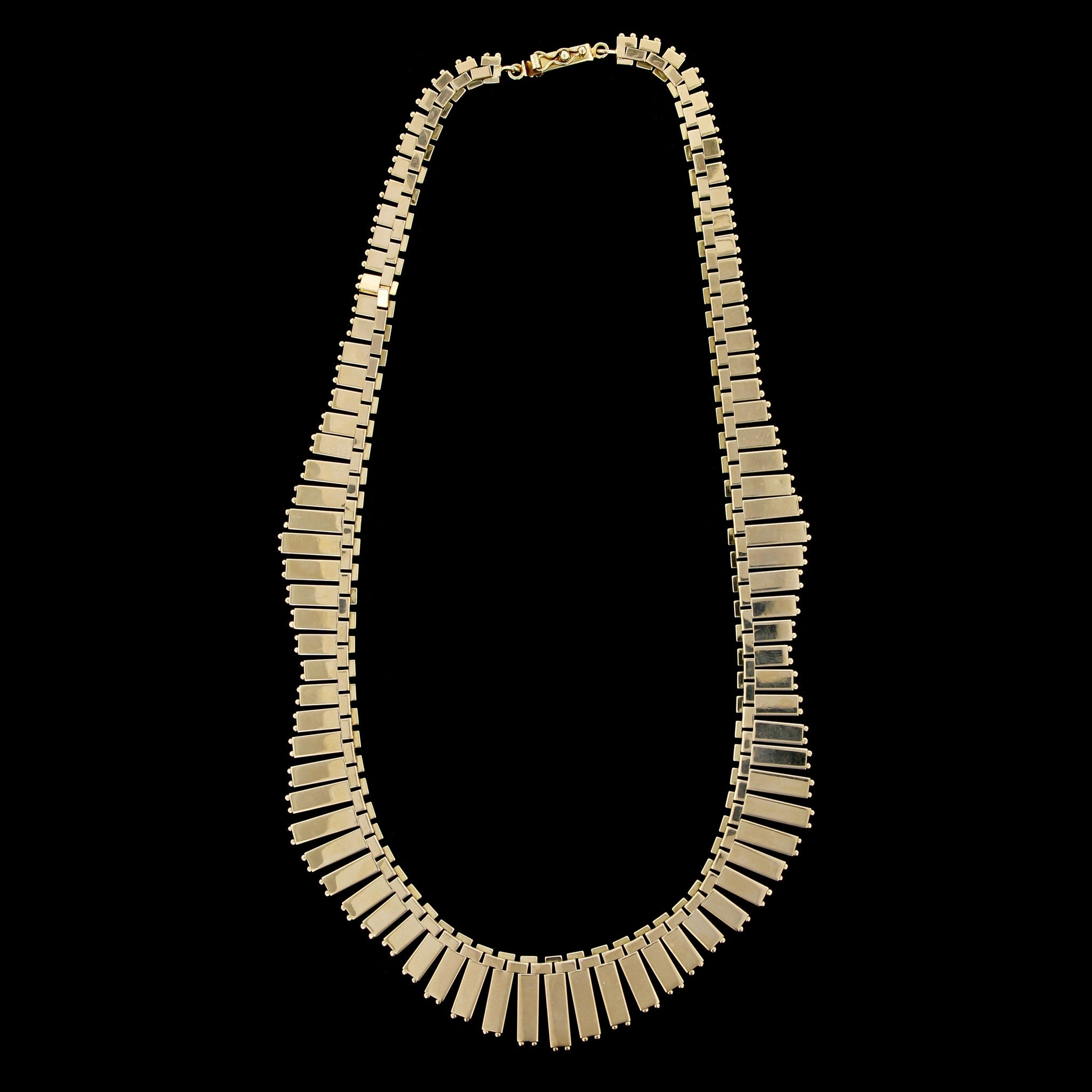 14K Yellow Gold Fringe Necklace