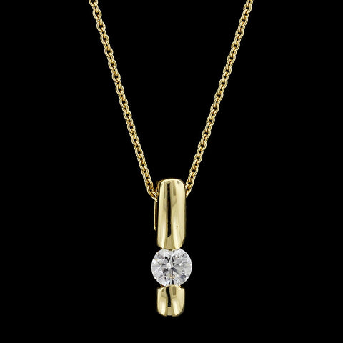 18K Yellow Gold Hearts on Fire Diamond Pendant
