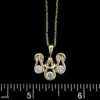 14K Yellow Gold Diamond Pendant
