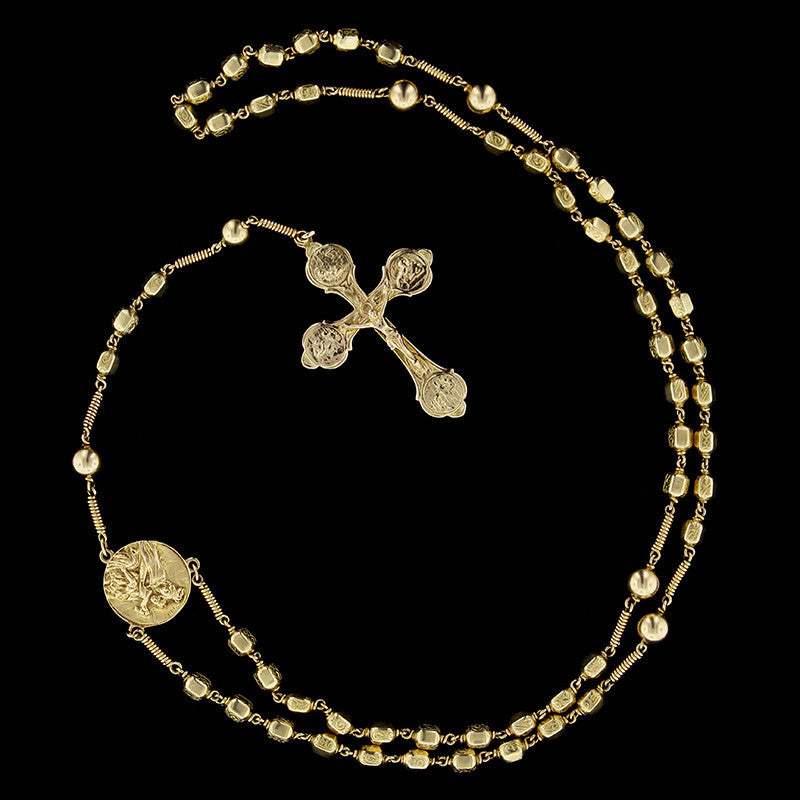 Parenti Sisters 14K Yellow Gold Rosary Bead Necklace