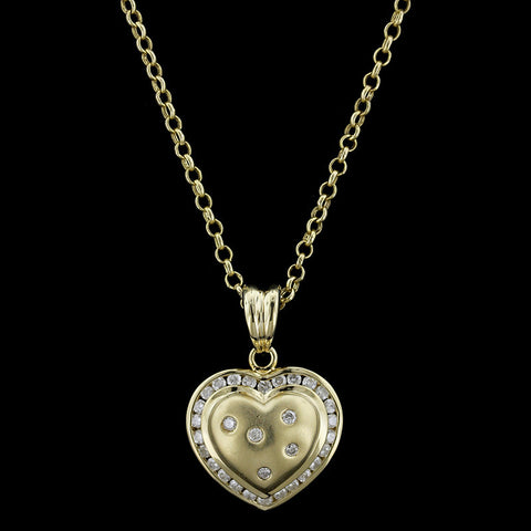 14K White Gold Diamond Pocketbook Pendant