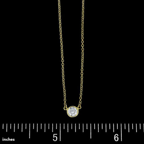 Tiffany & Co. 18K Yellow Gold Elsa Peretti Diamond Solitaire Pendant