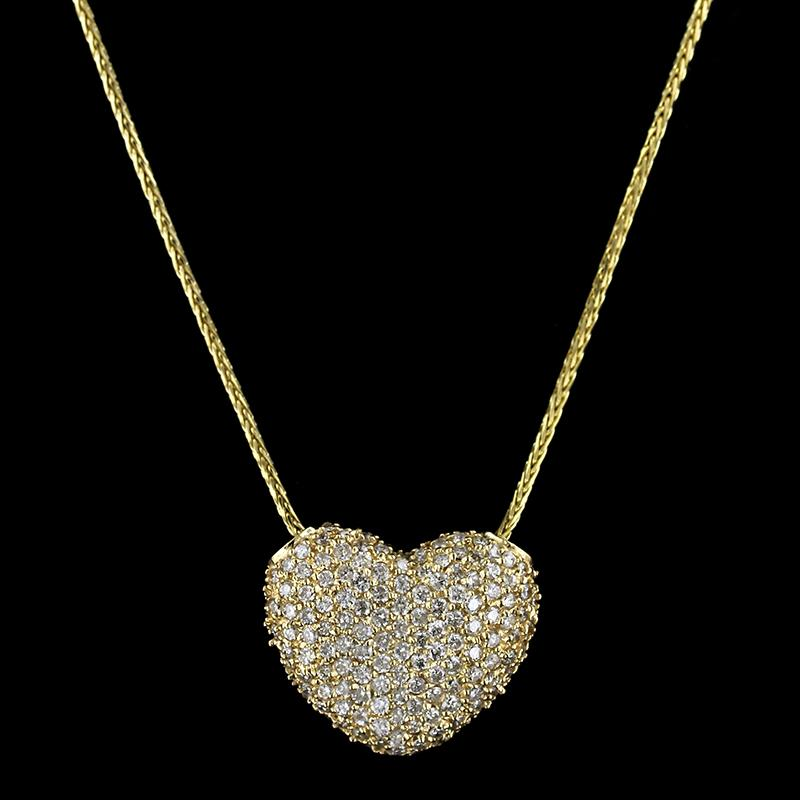 Sonia B. 18K Yellow Gold Diamond Heart Pendant