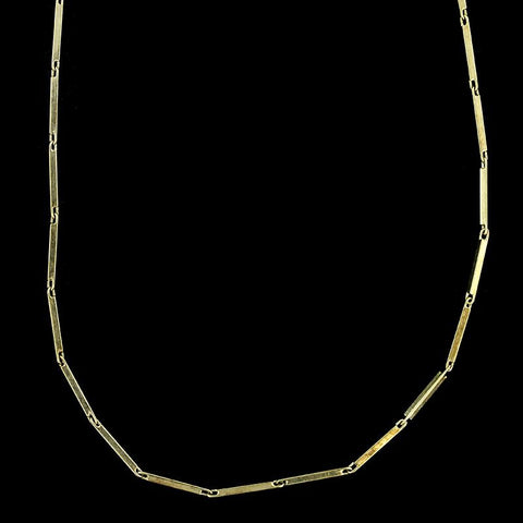 14K Yellow Gold Bar Link Necklace