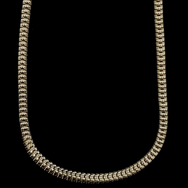 14K Yellow Gold Fancy Link Necklace