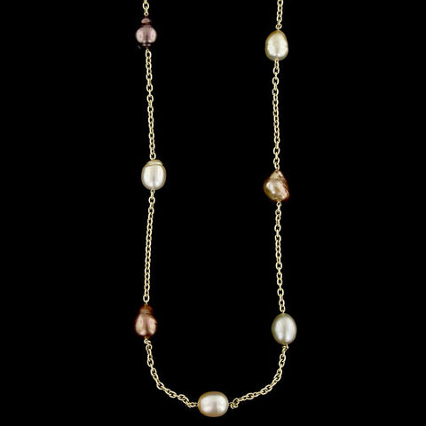 Yvel 18K Yellow Gold Baroque Pearl Necklace