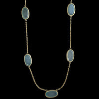 14K Yellow Gold Green Quartz Necklace