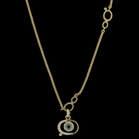 Links Of London 18K Yellow Gold Diamond Evil Eye Watch Over Me Necklace