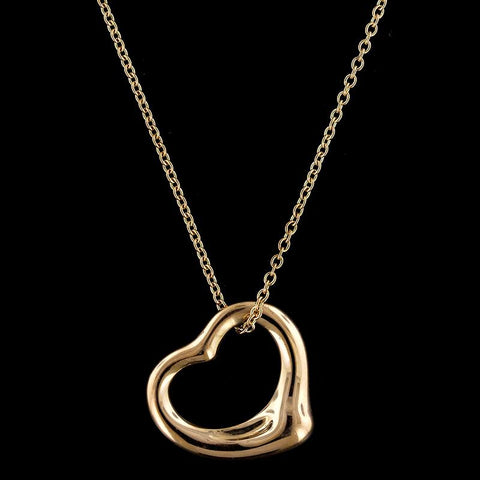 Tiffany & Co. 18K Rose Gold Elsa Peretti Open Heart Pendant
