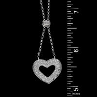 Platinum Estate Diamond Heart Pendant